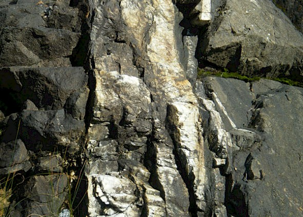 Surface quartz veining at Ridge vein