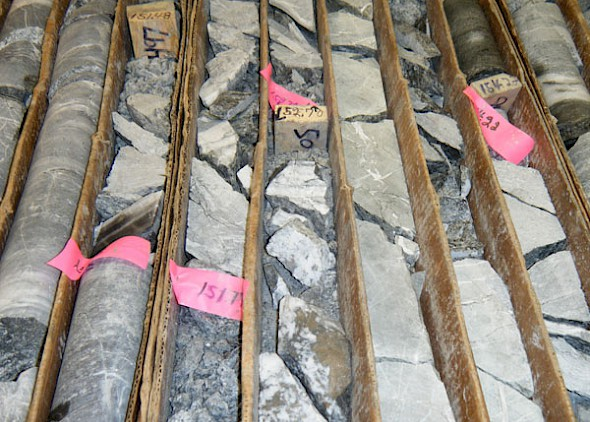 Drill Core from Hole 112-4 - Main Vein